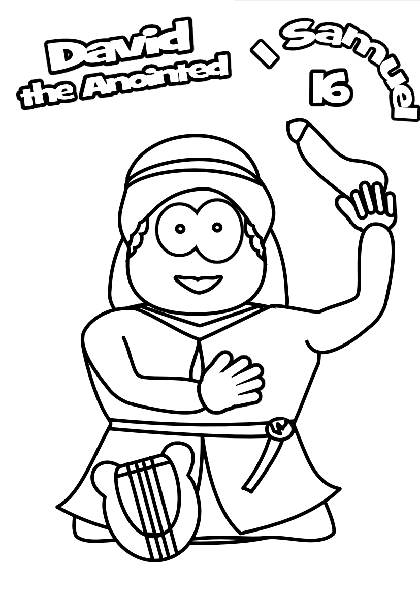 young king david coloring pages