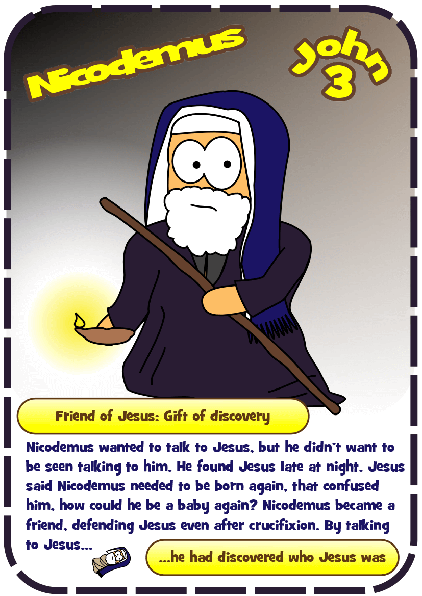 Free coloring pages jesus and nicodemus - 34 Card 34 Card