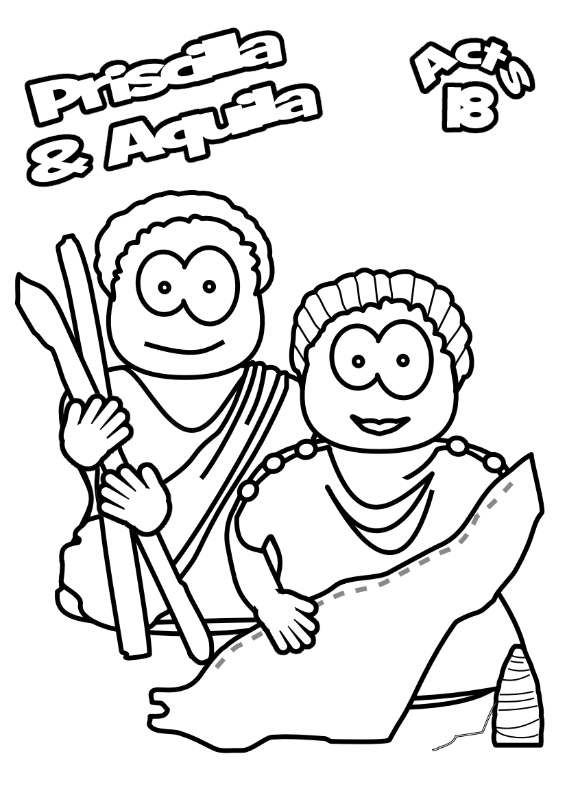 36 B E?x48961 l036 archives jesus without language on aquila and priscilla coloring page