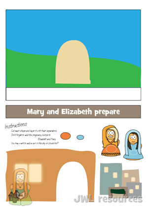 Elizabeth & Mary (Luke 1) | Craft 2