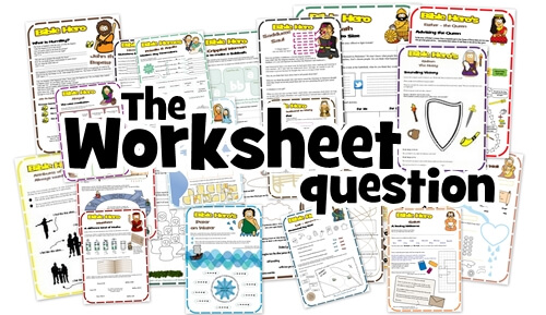 The worksheet as a teaching tool