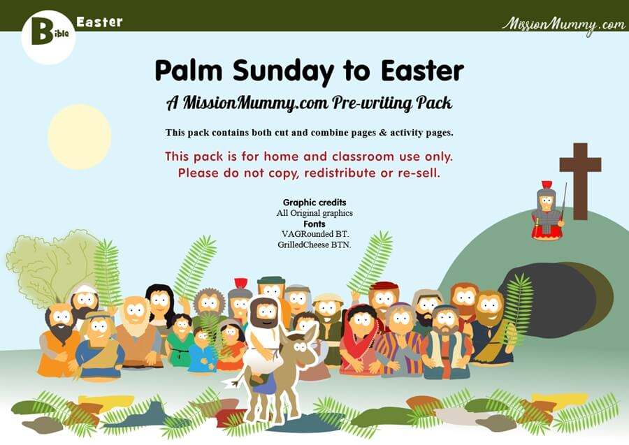 Preschool holy week front page