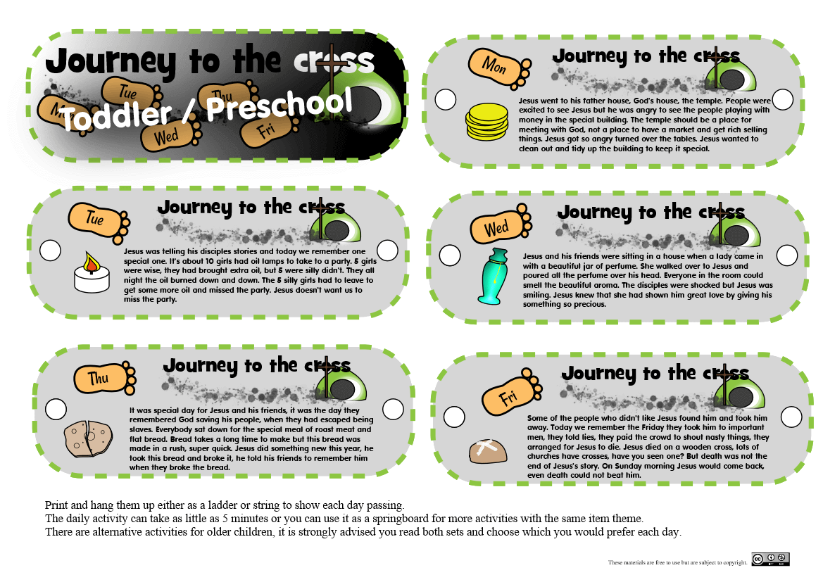 Holy Week | Toddlers and preschoolers