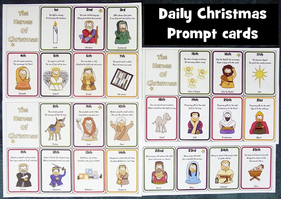 Christmas prompt cards