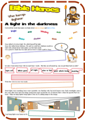 Lamp Lighter (Luke 11) Worksheet