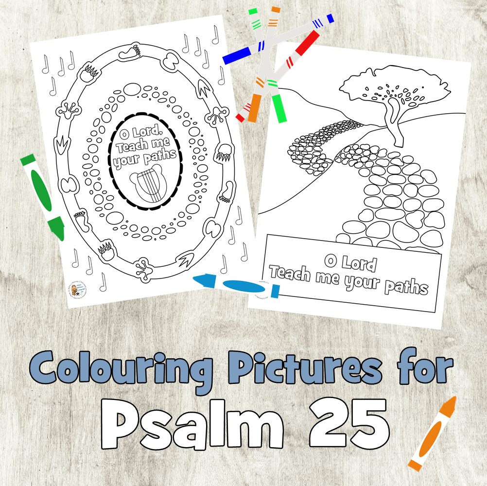 Psalm 25 colouring pages