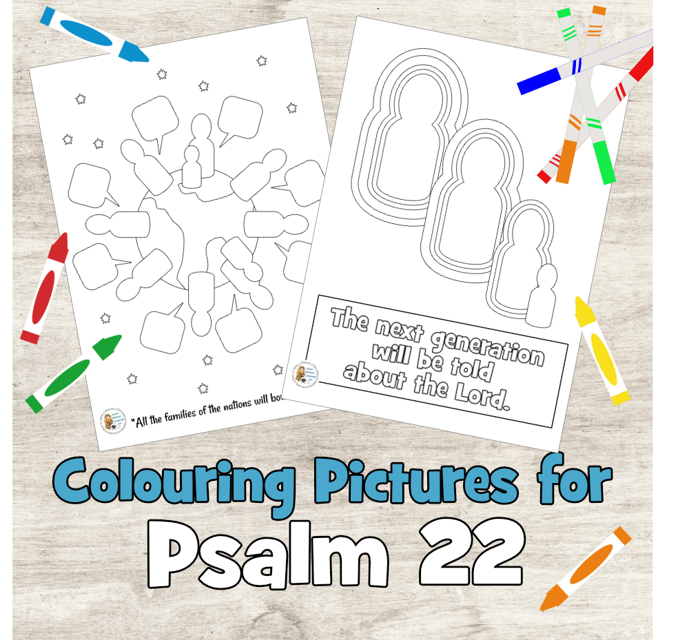 Psalm 22 colouring pages