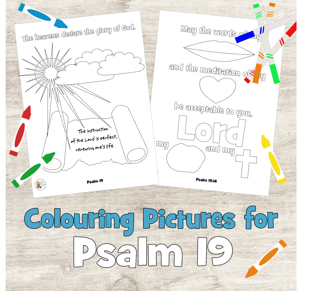 Psalm 19 colouring pages