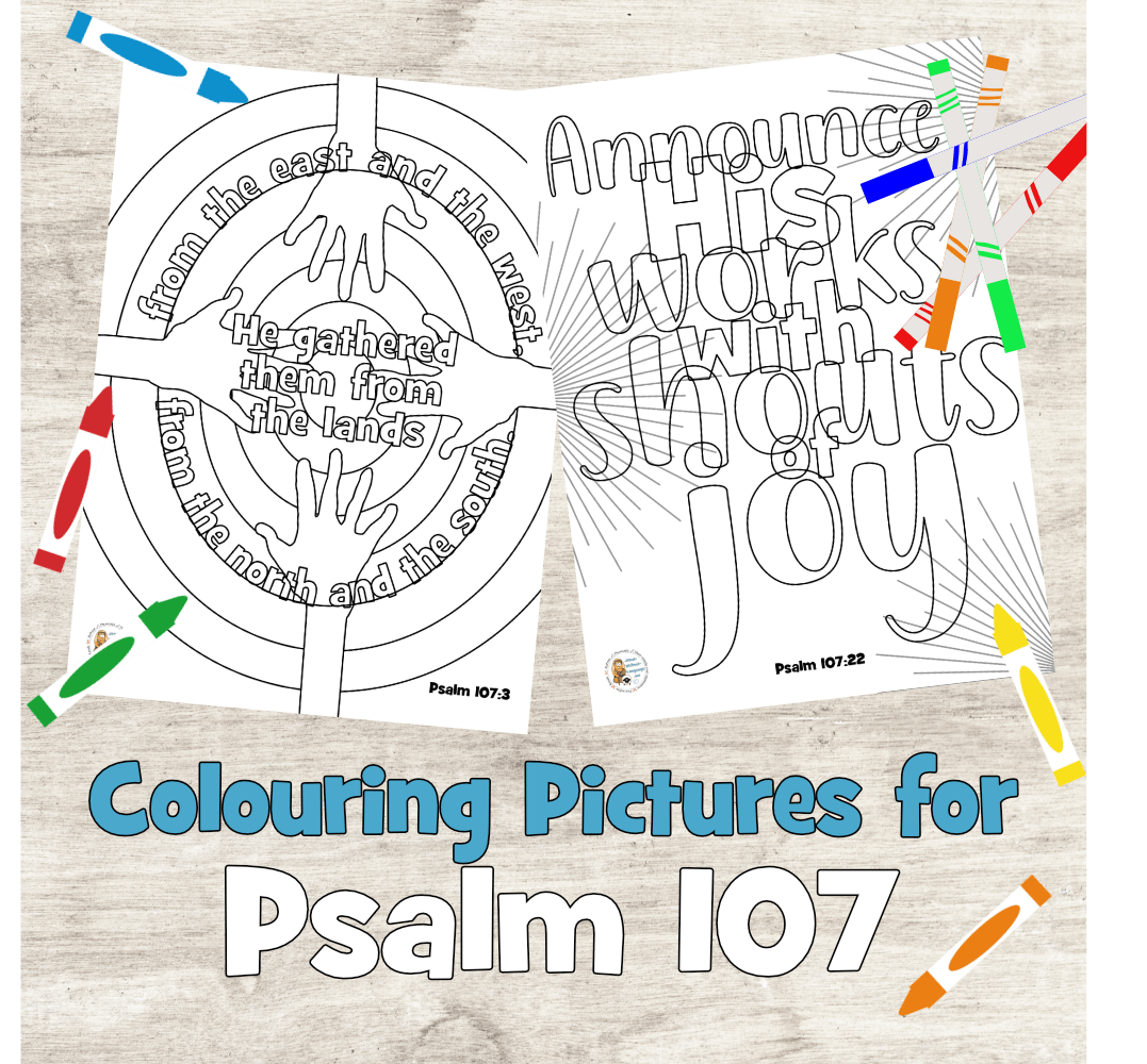 Psalm 107 colouring pages