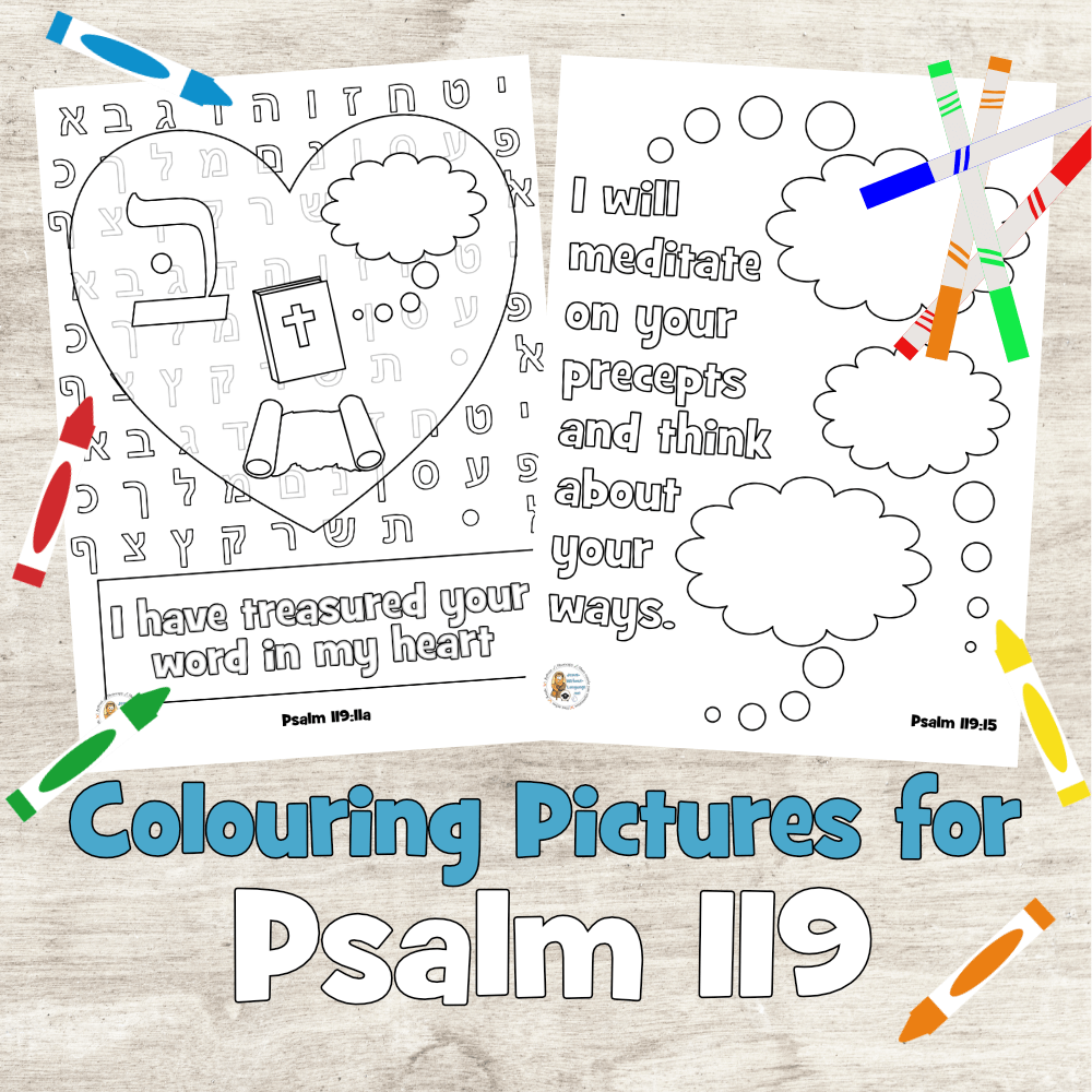 Psalm 119 colouring pages