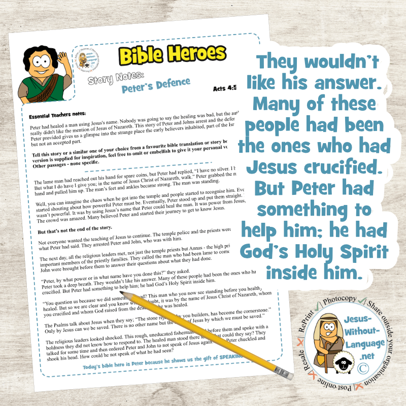 Peter's Defence (Acts 4) | Story